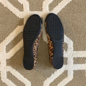 Merona Shoes - Faux Leopard Print Ballerina Flats - Size 8